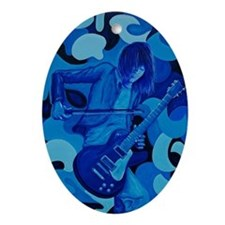 Jimmy Page Oval Ornament