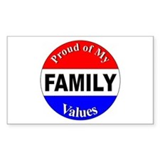 Proud Family Values Rectangle Decal