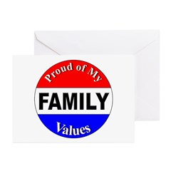 Proud Family Values Greeting Cards (Pk of 10)
