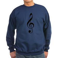 Trad Basic Black Treble Clef Sweatshirt