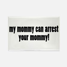 Mom Cop Rectangle Magnet