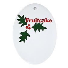 Fruitcake Oval Ornament