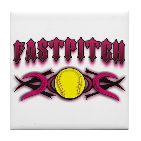 Fastpitch Tribal Pink Tile Coaster