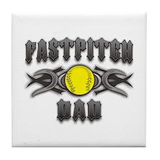 Fastpitch Tribal Dad Tile Coaster
