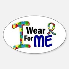 I Wear Puzzle Ribbon 21 (ME) Oval Decal