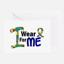I Wear Puzzle Ribbon 21 (ME) Greeting Card