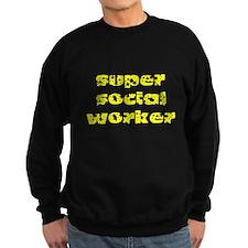 super social worker (Yellow) Sweatshirt