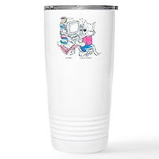 CatoonsT Computer Cat Travel Mug