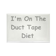 Duct Tape Diet Rectangle Magnet