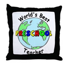 Best Preschool Teacher Throw Pillow