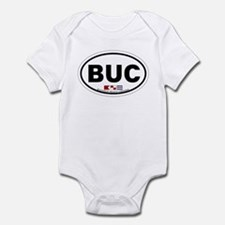 Buckroe Beach VA - Oval Design Infant Bodysuit