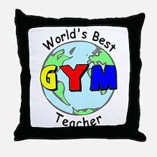 World's Best Gym Teacher Throw Pillow