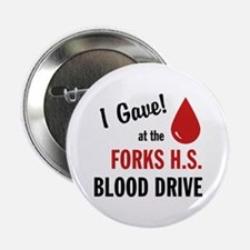 "Forks Blood Drive 2.25"" Button"