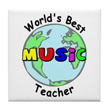 World's Best Music Teacher Tile Coaster