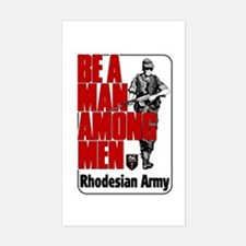 Rhodesian Army Poster Rectangle Decal