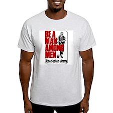 Rhodesian Army Poster T-Shirt