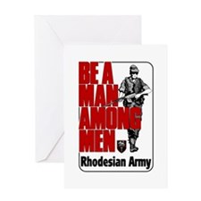 Rhodesian Army Poster Greeting Card