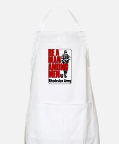 Rhodesian Army Poster BBQ Apron