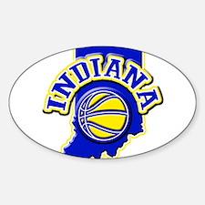 Indiana Basketball Oval Sticker (10 pk)