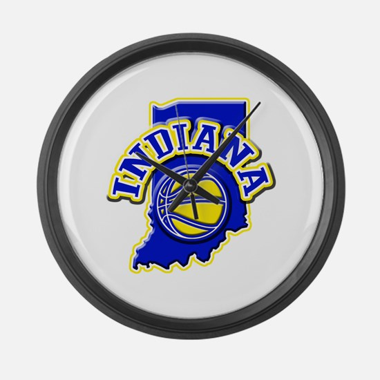 Indiana Basketball Large Wall Clock