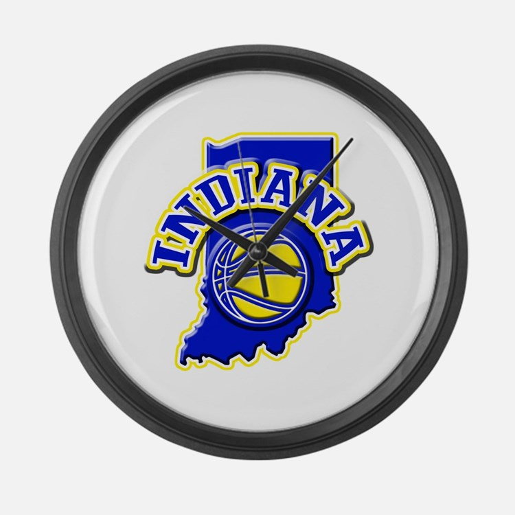 Indiana Basketball Large Wall Clock