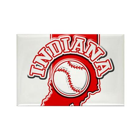 Indiana Baseball Rectangle Magnet (100 pack)