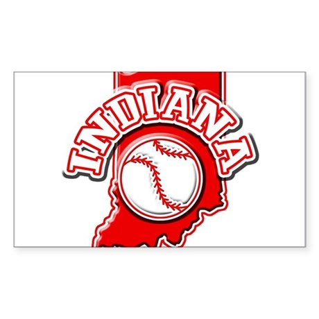 Indiana Baseball Rectangle Sticker