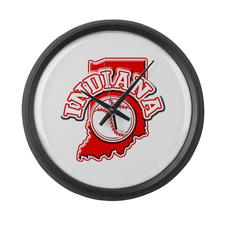 Indiana Baseball Large Wall Clock
