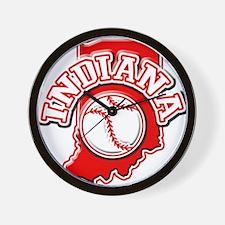 Indiana Baseball Wall Clock