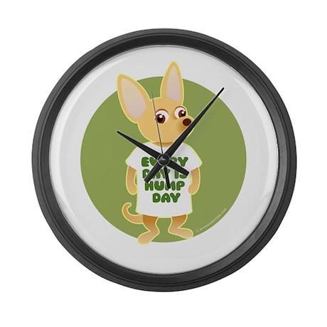 HUMP DAY Chihuahua Large Wall Clock