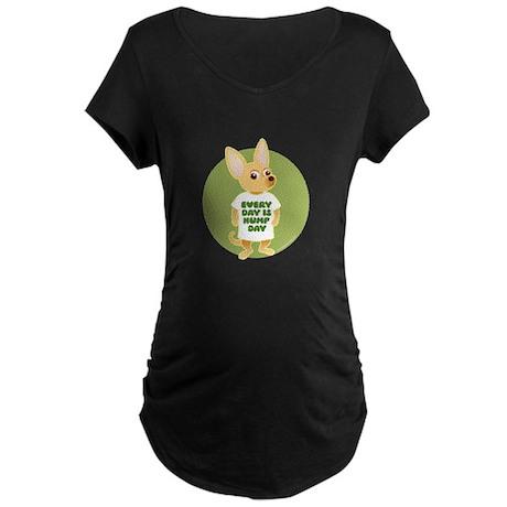 HUMP DAY Chihuahua Maternity Dark T-Shirt