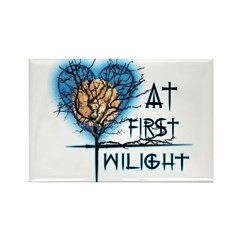 Twilight Moon Heart Rectangle Magnet (10 pack)