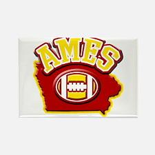 Ames Football Rectangle Magnet
