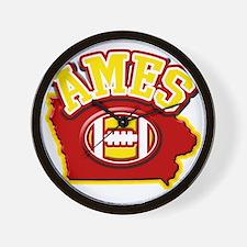 Ames Football Wall Clock