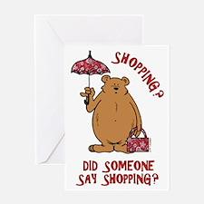 Shopping?! Greeting Card