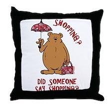Shopping?! Throw Pillow