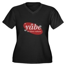 Le Yabe Women's Plus Size V-Neck Dark T-Shirt