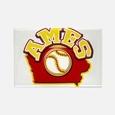 Ames Baseball Rectangle Magnet