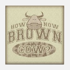 How Now Brown Cow? Tile Coaster