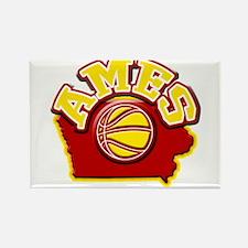 Ames Basketball Rectangle Magnet