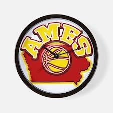 Ames Basketball Wall Clock