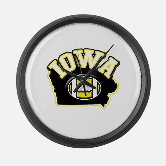 Iowa Football Large Wall Clock