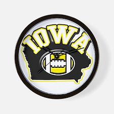 Iowa Football Wall Clock