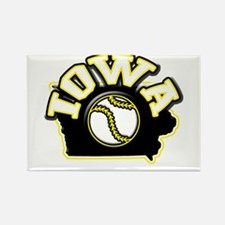 Iowa Baseball Rectangle Magnet