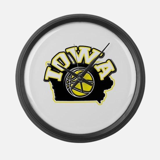 Iowa Basketball Large Wall Clock