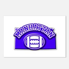 Manhattan Football Postcards (Package of 8)