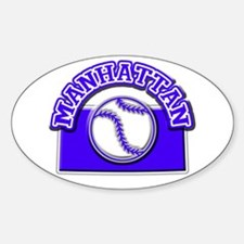 Manhattan Baseball Oval Decal