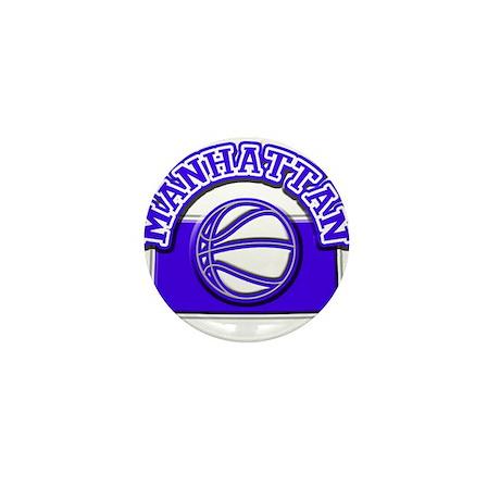 Manhattan Basketball Mini Button