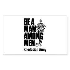 Rhodesian Army Rectangle Sticker 10 pk)
