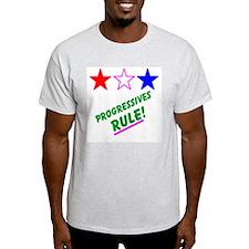 Progressives Rule! Ash Grey T-Shirt